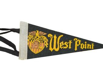 Vintage West Point Felt Flag Banner