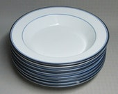 DANSK Concerto Allegro blue rim soup bowl ONE ( 1 ) 6 available