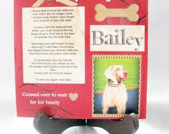 Pet memorial keepsake tile- customized just for you!