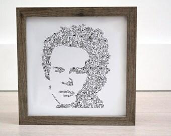 Art Garfunkel - Biography in a Portrait - Limited Edition of 100 - Simon and Garfunkel poster illustration print