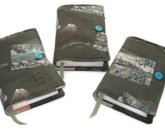 Large Bible Cover, Buy 1, 2 Or All 3 Covers, Samurai Scenes, Mount Fuji, Shogunate Parade, Japanese Vintage Kimono Fabric. UK Seller