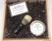 Oatmeal Milk and Honey Cigar Box Deluxe Shave/Shaving Set Kit - Padilla Connecticut