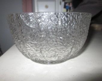 1870 Antique EAPG Civil War Era Portland Maine Tree of Life Pattern Glass Finger Bowl