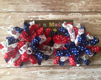 4th of July Korker Bows