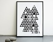 NEW Triangles. Screenprint poster A3 or 11.7 x 15.7 in.