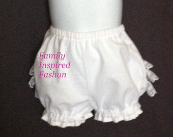 Baby girl diaper cover, bloomers