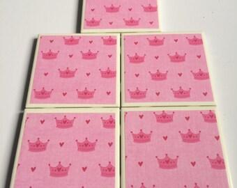 Pink Princess Coasters