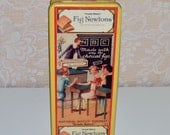 Fig Newton Tin  Vintage Farmhouse Kitchen Tin Rustic Decor Collectible Tins Cookie Tins