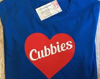 Chicago Cubs Shirt/Womens Cubs Tshirt/Chicago Cubs tshirt/Chicago Cubs tshirts/ Chicago/Cubs/Womens Cubs shirt/ Womens Cubs tshirts/ Cubbies