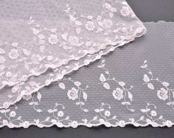 Blush Pink Lace Trim, Light Pink Flowered Lace, Pale Pink Embroidered Lace, Lingerie, Lace Crafts, Dolls