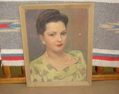 Vintage Oil Painting Elegant Portrait of Woman