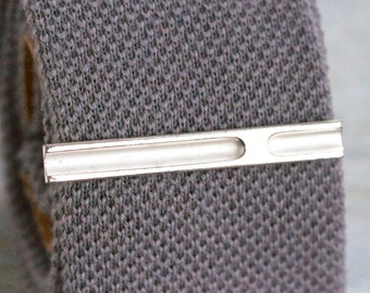 Vintage Tie Clip - Silver Tone Bar - Made in West Germany in Original Box