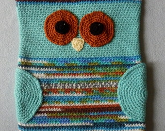 Made to order Owl IPAD cover Hand Crocheted iPAD or Tablet Computer Cover Bag Case You Choose Colors