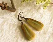 Earthy Agate Earrings , natural stone , rustic , casual jewelry