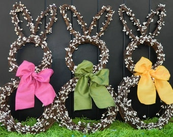 mini easter wreath bunny wreath spring wreath easter decoration - Easter Decoration