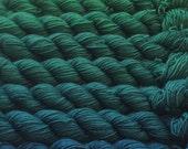 Gradient yarn set-merino luster wool, handdyed yarn 200g- hand painted dyed sock shawl ombre - Neptune