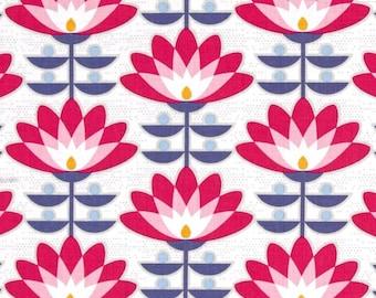 54043 - Joel Dewberry Atrium collection PWJD107  Bloom in Fuchsia color - 1 yard