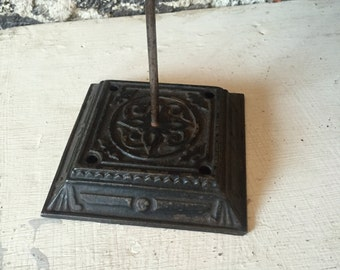 Antique Victorian Cast iron letter holder message pin
