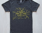 Berlin T-Shirt- Dark Gray/Lime