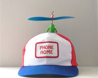Propeller Hat Snap back Cap Hat Baseball hat 1980's Phone Home Space Raiders Rare Alien Robot Diener Eraser Sci Fi Collectible