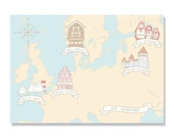 Custom Travel / Adventure Map