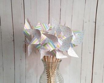 "Spinning 4"" Pinwheels Sprinkles Set of 12"
