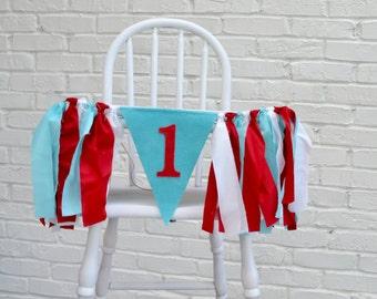 Dr Seuss birthday banner - boy birthday banner - elmo birthday - Dr Suess Banner - Dr Suess 1st birthday banner -1st birthday photo prop