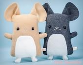Chinchilla Stuffed Animal, Cute chinchilla plush, Chinchilla toy doll, Chinchilla plushie, kawaii chinny, cuddly stuffy handmade kids gift