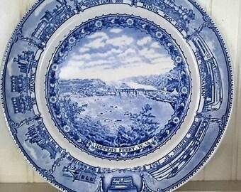 Railroad Plate Harper's Ferry Shenango China