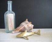 Vintage Brass Shark - Figurine - Paper Weight