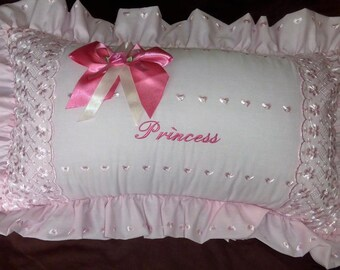 New Baby girls Princess pink frilly pillow cushion