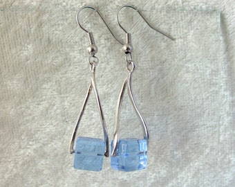 Crystal Earrings - Blue Ice Cubes