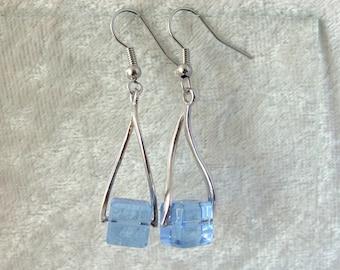 Crystal Earrings - Blue Ice Cubes