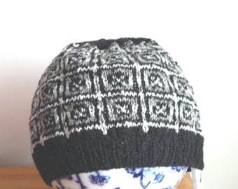 Shetland Fair Isle Handknitted hat , beanie , beret , tam.outdoors,adventure,fishing,skiing,hiking,walking,treking,boating,wool,