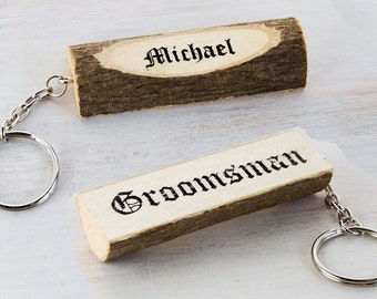 Rustic Groomsmen Gift Groomsman Best man Gift Wedding accessories Personalized Wedding Date Gift for Grooms Man Keychains Wedding Gift