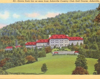 Asheville, North Carolina, Grove Park Inn - Linen Postcard - Unused (VV)