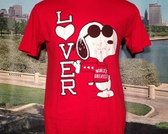 1980's Snoopy World's Greatest Lover t-shirt, fits like a medium
