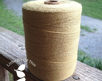 BULK • 800 Yards Total • Solid  Baker's  Twine / String • 100% Cotton • Eco Friendly • Gift Wrap • Bakery String  • Made In USA • Mustard
