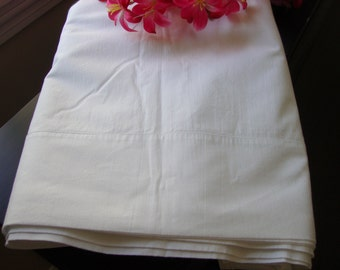 White Bed Sheet Vintage Percale White Flat Sheet Double Bed