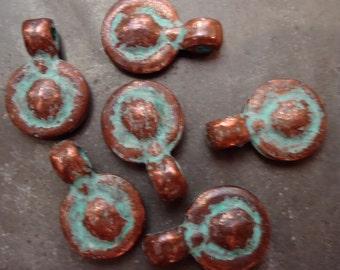 Small Copper Patina Pendants