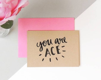 Valentines 'You Are Ace' Card