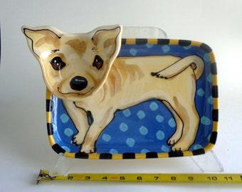 Chihuahua Chip and Dip Tray
