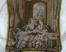 Tapestry Pillow Victorian Ladies, Small Tapestry Pillow