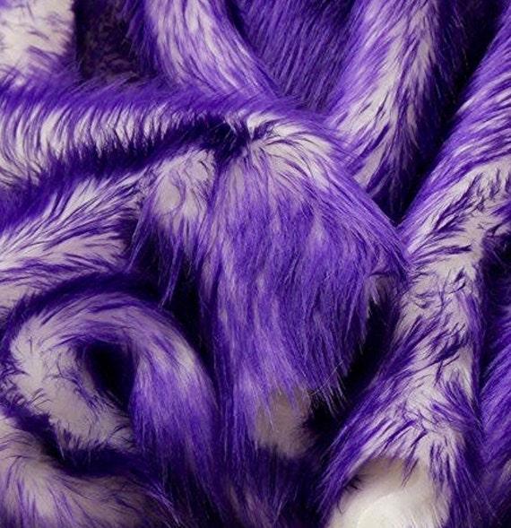 Rug White Shaggy Purple Tips Fur Faux Fur 8'x10