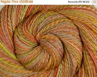 Hand Spun Yarn, 2 ply - CAROUSEL PONY - Hand painted Silk / Polwarth wool, Fingering weight, 398 yards
