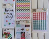 Carpe Diem Bookmarks, Clips, or Insta Quote Stickers by Simple Stories, Snap product for A5 planners