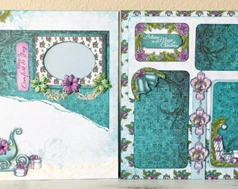 Premade scrapbook pages/ layout, 12X12 inch size for your scrapbook album, just add photos, or I can add them for you! Celebrate the Season