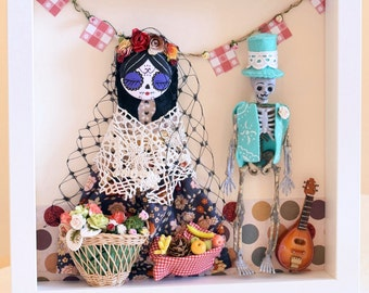 Día de los Muertos. Day of the Dead. Picture frame 25x25cm