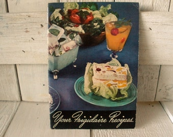 Vintage cookbook Your Frigidaire Recipes retro photos 1968