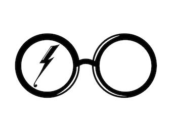 Harry Potter Glasses Sticker